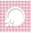 a frame and a flower on the pink background vector image vector image