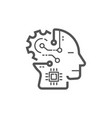 artificial intelligence image human head vector image vector image