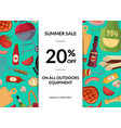 barbecue or grill elements horizontal sale vector image vector image
