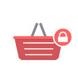 basket buy lock shop shopping icon vector image vector image