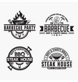 bbq logo badge vector image