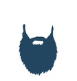 Beard isolated on white background vector image vector image
