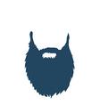 Beard isolated on white background vector image