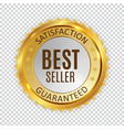 best seller golden shiny label sign vector image