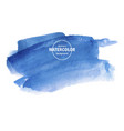 blue watercolor background on white vector image vector image