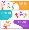 boxing day super sale banner set vector image