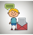 boy guy message chat vector image