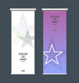 business roll up design with star symbol vector image vector image