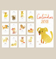calendar 2018 cute monthly calendar vector image vector image