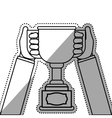Champion trophy cup vector image vector image