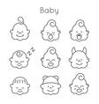 Children faces icon set vector image vector image