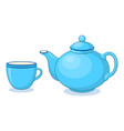 china teapot and cup vector image