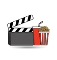 clapper movie pop corn design vector image vector image