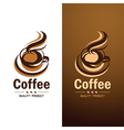 Coffee cup1 vector image