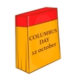 Columbus Day calendar 12 october icon vector image vector image