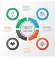 connection icons set collection of wifi upload vector image vector image