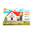 construction private house in section vector image