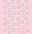 cute white stars pattern pink background vector image