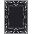 Decorative frame for silver decor vector image vector image