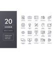 design line icons vector image
