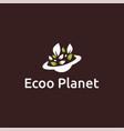 ecoo planet logo design vector image vector image