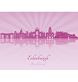 Edinburgh skyline in purple radiant orchid vector image vector image