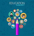 education concept concept learning and study vector image