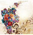 fashion background with roses in vintage style vector image vector image