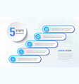 five steps infographics like a stairs diagram vector image