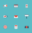 flat icons auditorium audience journal and other vector image vector image