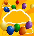 Flying balloons on a background of clouds vector image vector image