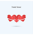 friends forever logo design template vector image vector image