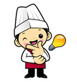 funny cook character good idea isolated on white vector image vector image