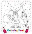 funny Santa Claus Christmas Character coloring vector image vector image