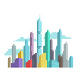 future invented city skyscraper panorama high-rise vector image vector image