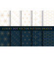 golden luxury dot pattern swatch set vector image vector image