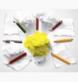 good idea symbol creativity ligh bulb clumps paper vector image