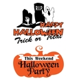 Halloween party poster and banner vector image