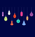 hanging light bulbs creative ideas and lighting vector image