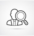 headhunting flat line black icons eps10 vector image vector image
