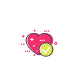 heart and tick icon vector image vector image