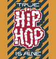 hip hop poster template label lettering typ vector image vector image