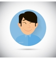 human emotions happy flat icon vector image vector image