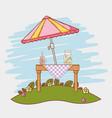 juice picnic cartoons vector image