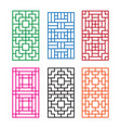 korean ornament for door window wall and fence vector image vector image