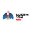 launching soon marketing store template coming vector image vector image