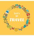 Lets go travel Hand drawn travel concept Adventure