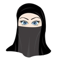 Making look younger girl in hijab vector image