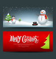 Merry christmas banner design background set vector | Price: 1 Credit (USD $1)