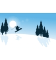Merry Christmas winter the ski landscape vector image vector image